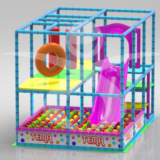 Playground 3x2 scivolo interno progettazione giostre su for Arredo ludoteche